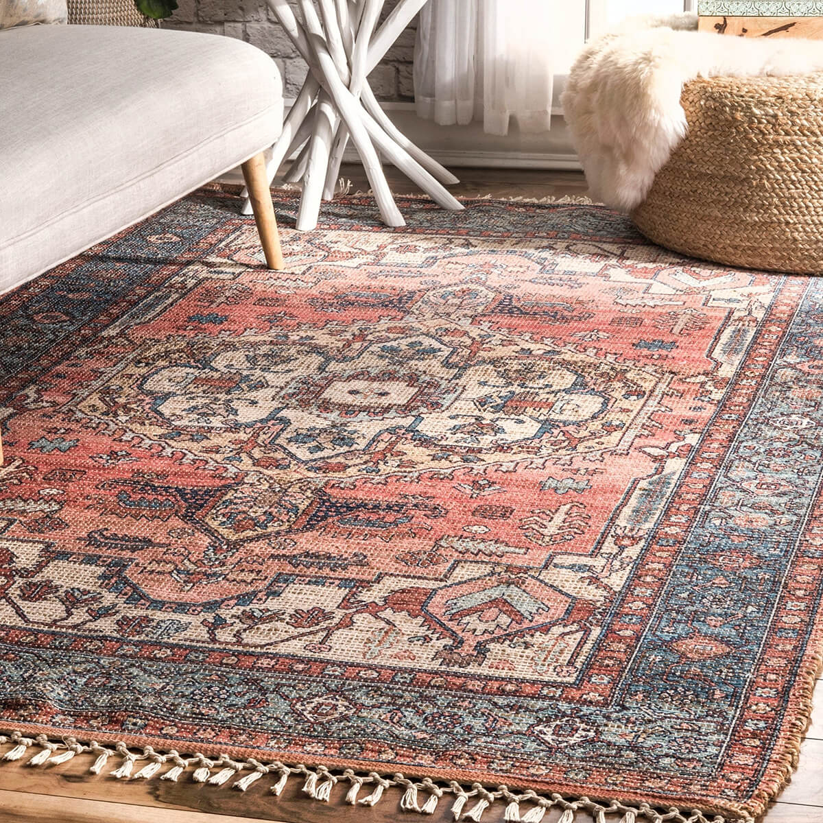 Gently Faded Vintage Floor Rug