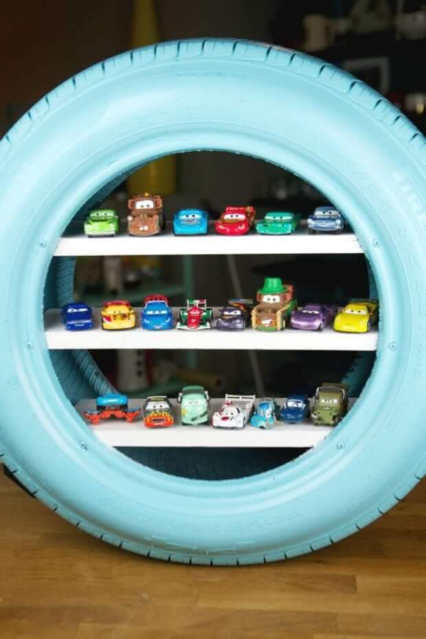 Thematic Tire Shelf for Small Figurines