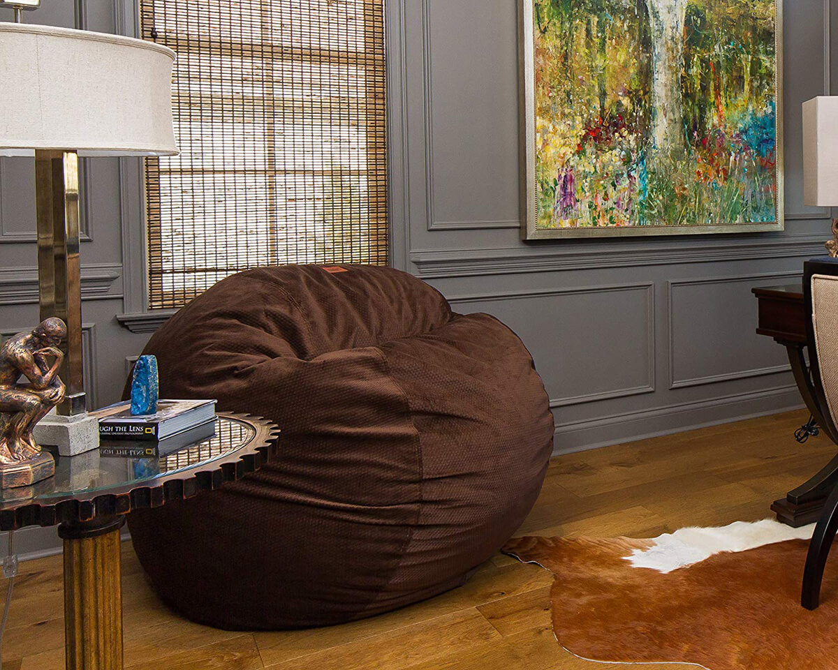 CordaRoy's Convertible Espresso Chenille Bean Bag Chair