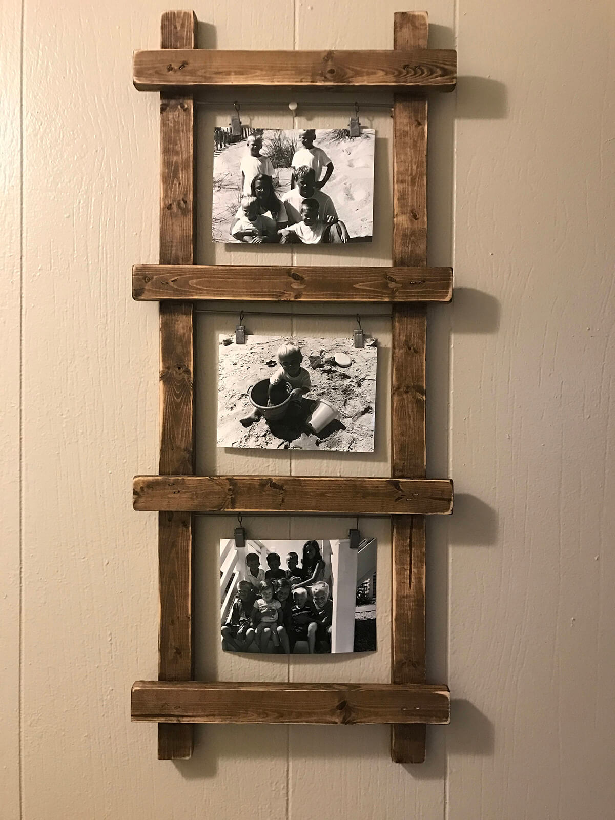 Simple and Sweet Wooden Ladder Frame