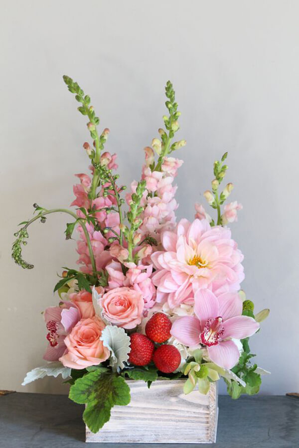 A Lush Strawberry Shortcake Arrangement