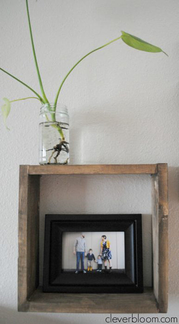 Airy Floating Frame Box Shelf