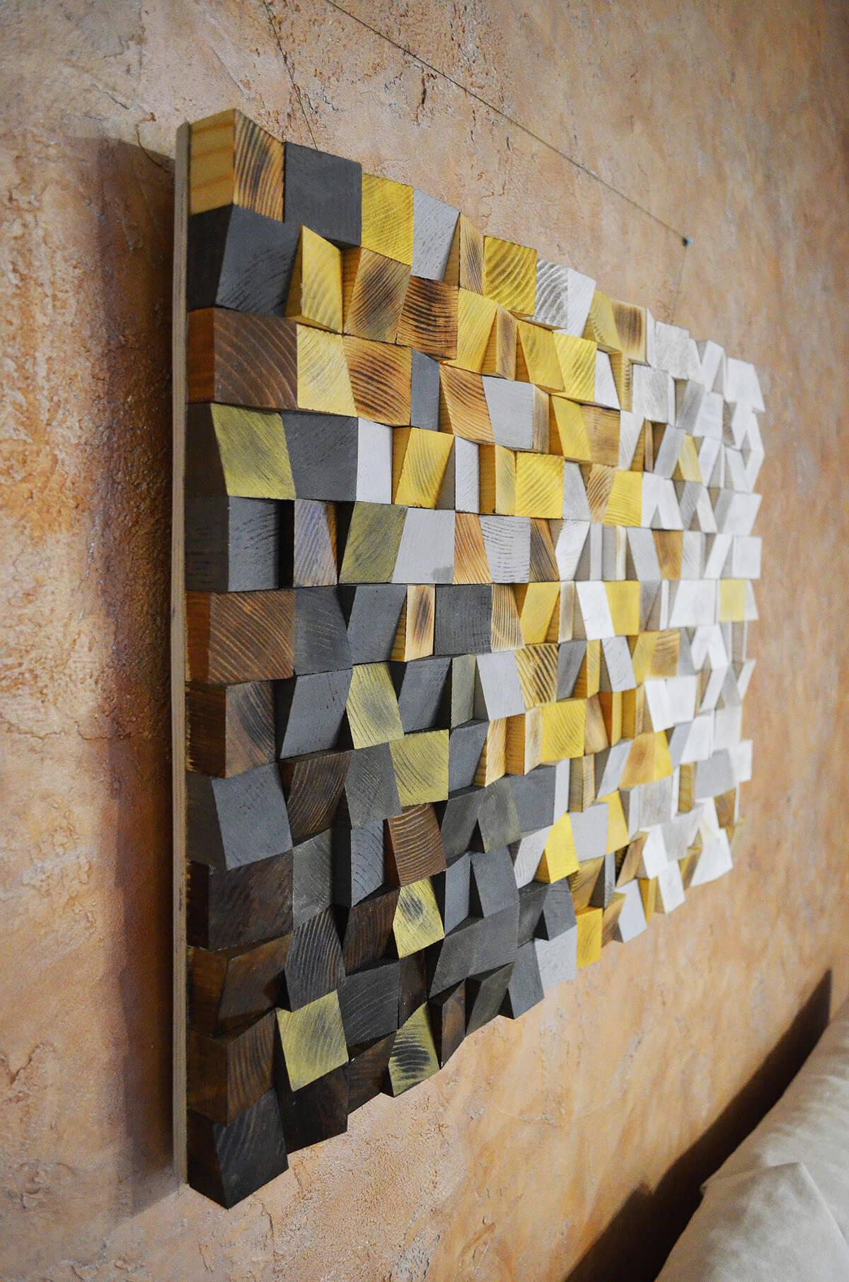 Geometric Pine Wooden Wall Art
