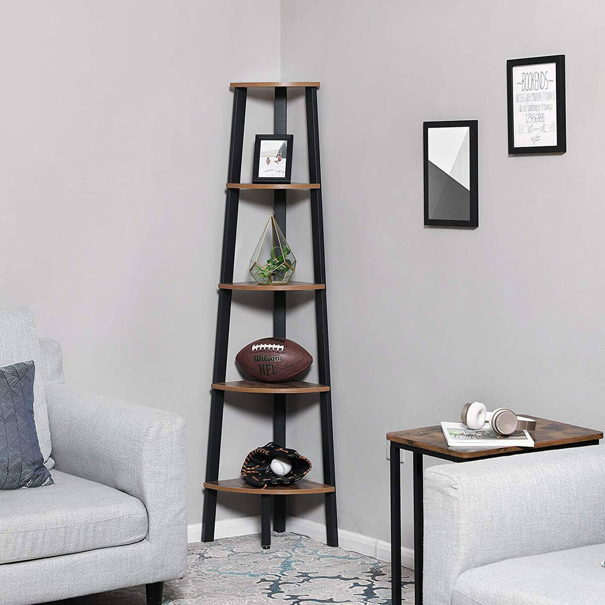 Unique Curved Ladder Bookcase Shelf