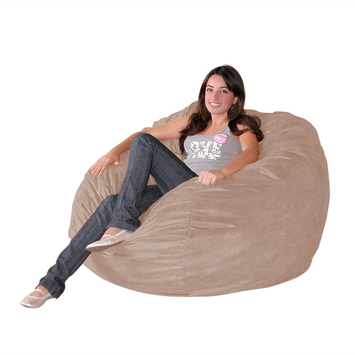 Cozy Sack 3-Foot Medium Bean Bag Chair in Cinnabar