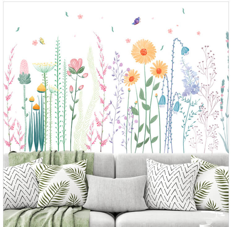 Easy and Colorful Flower Wall Decals