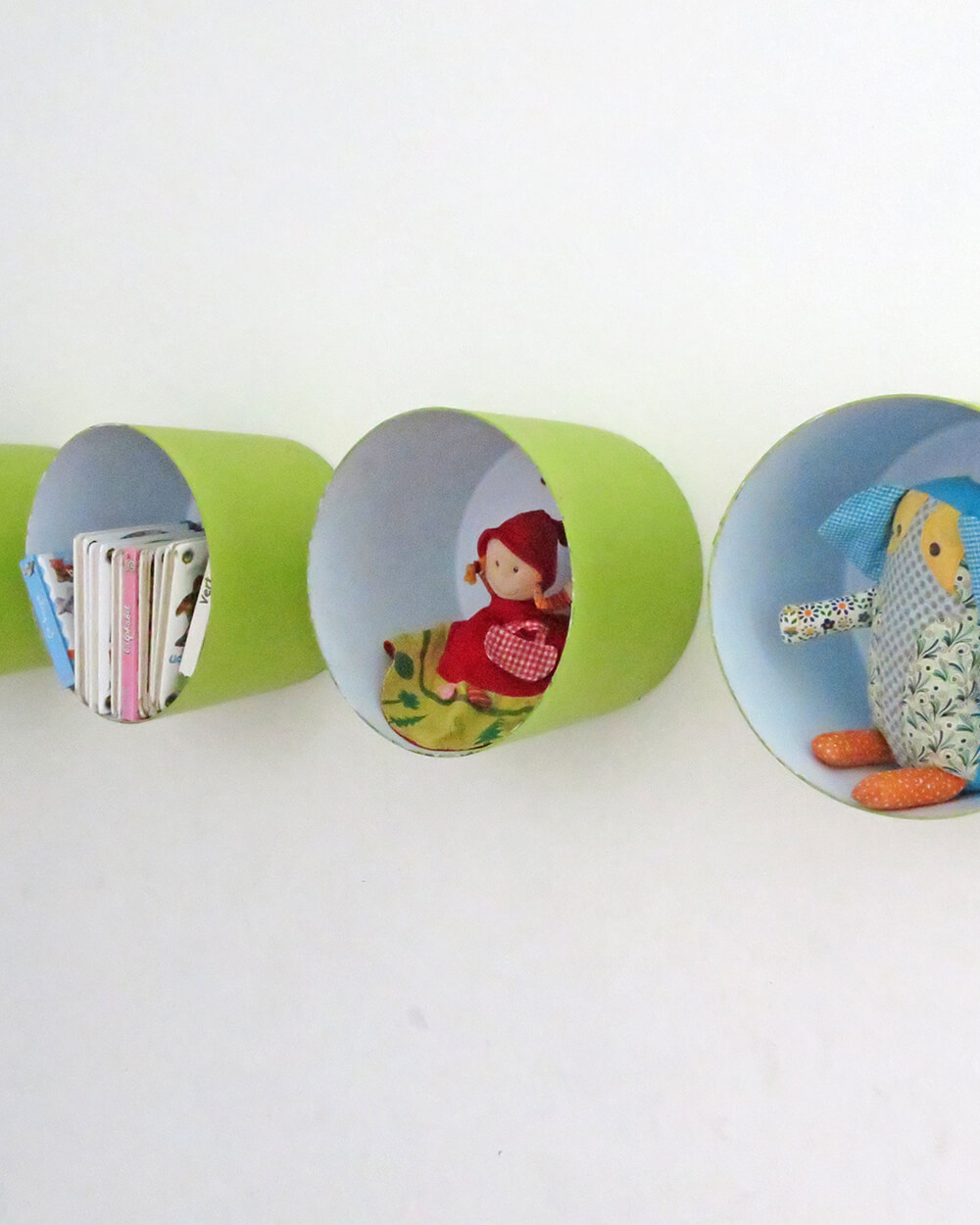 Small Colorful Circular Cubby Shelves