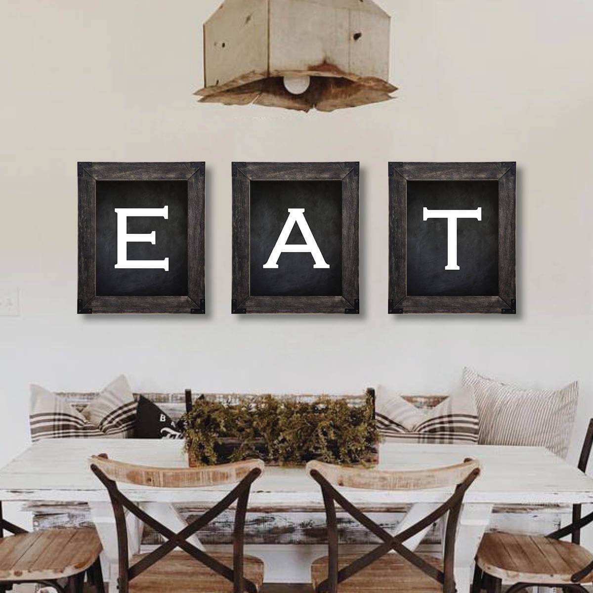 Rustic Black-Framed Dining Room Wall Art