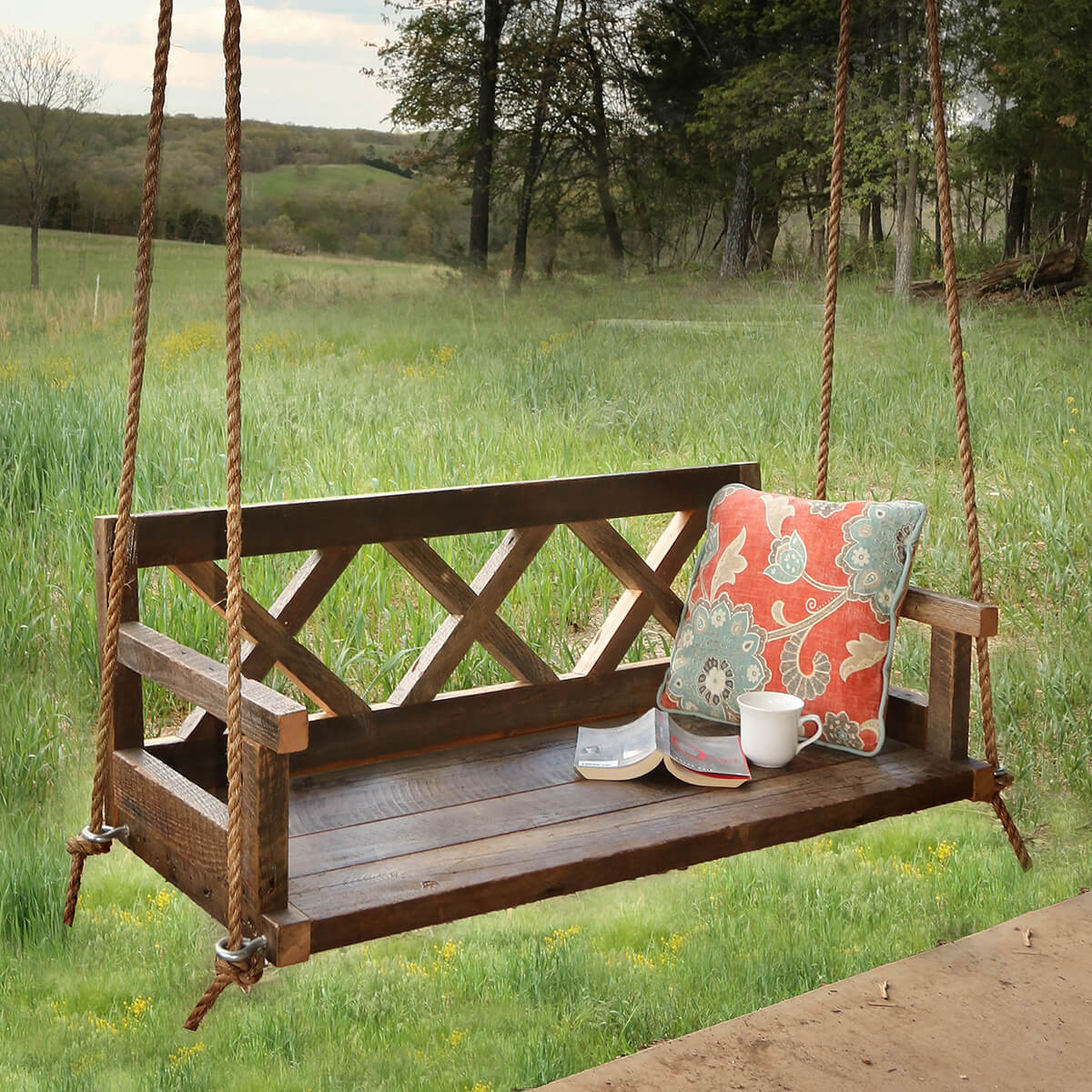 Whimsical and Romantic Porch Swing