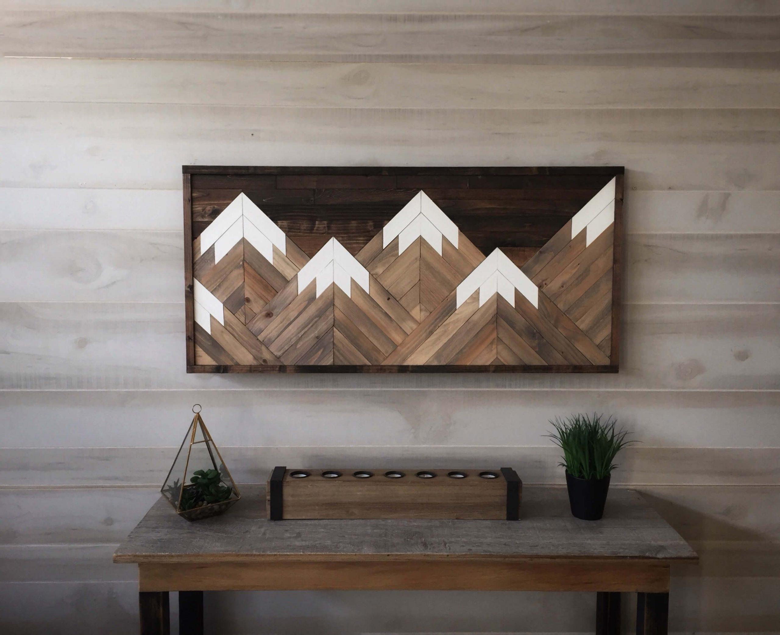 Mountain Range Reclaimed Wood Wall Art