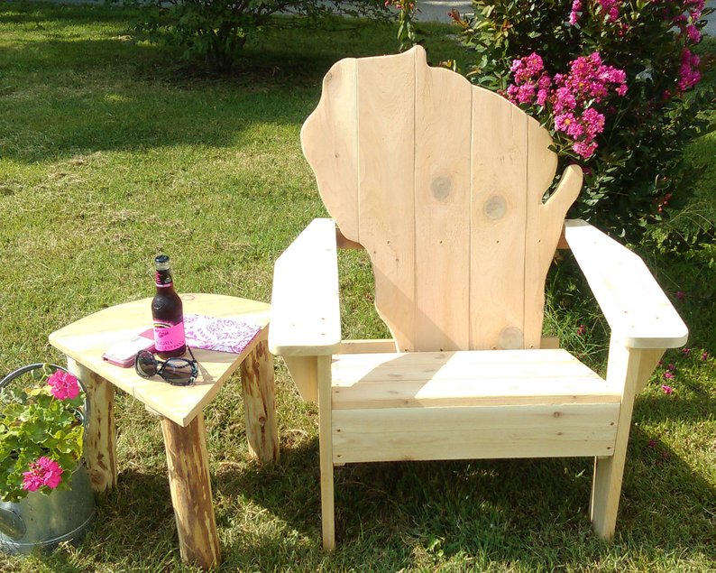 Wisconsin-backed Adirondack Chair for the True Midwesterner