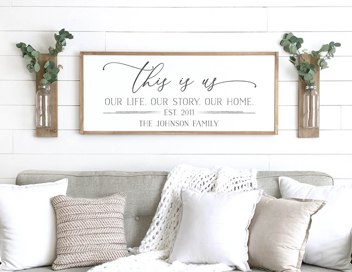 This Is Us Custom Printed Sign