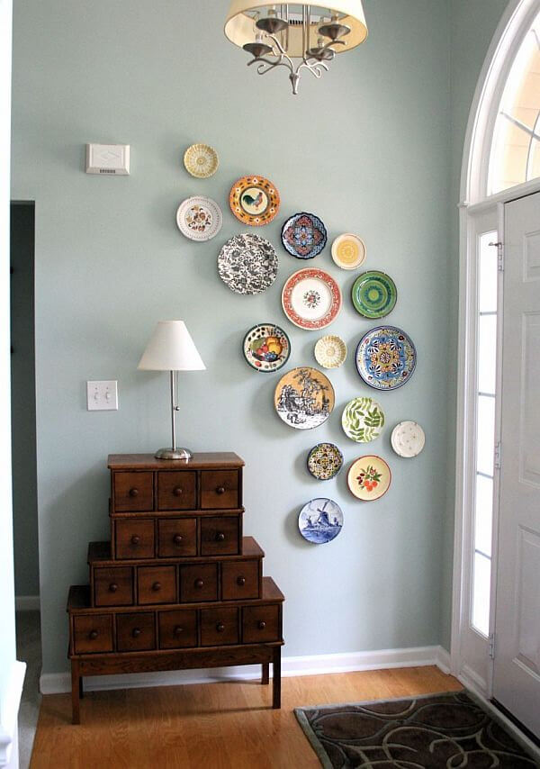 Charming Hand-Painted Hanging Ceramic Plates