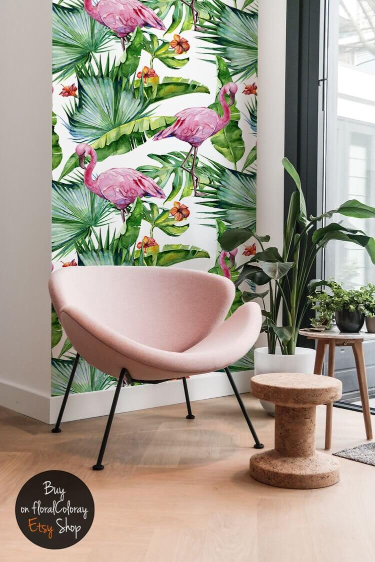 Bright and Brilliant Removable Floral Wallpaper