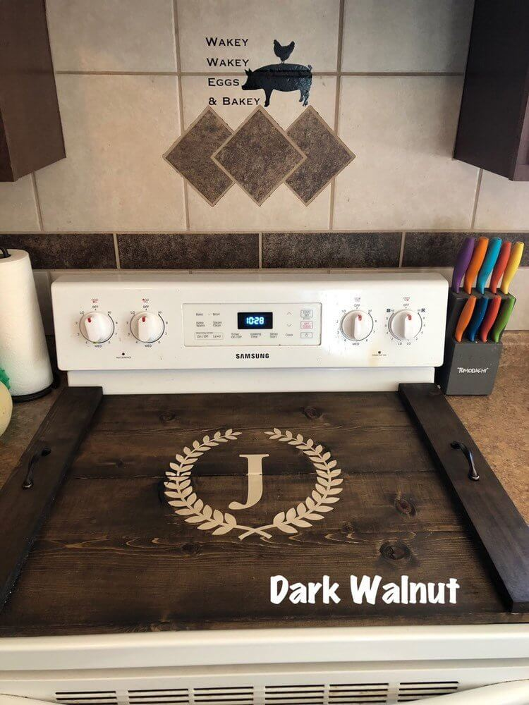 Clever Country Farmhouse Stove Top Protector