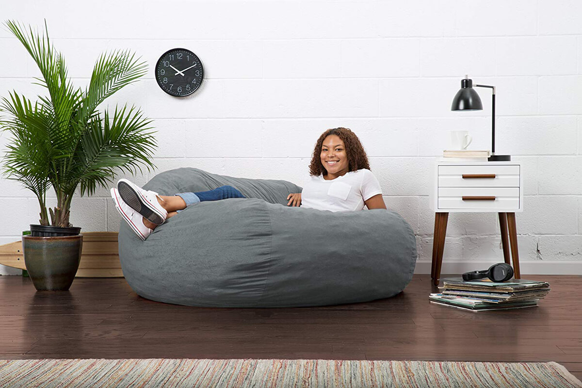 Big Joe Fuf Foam-Filled Comfort Suede Bean Bag Chair