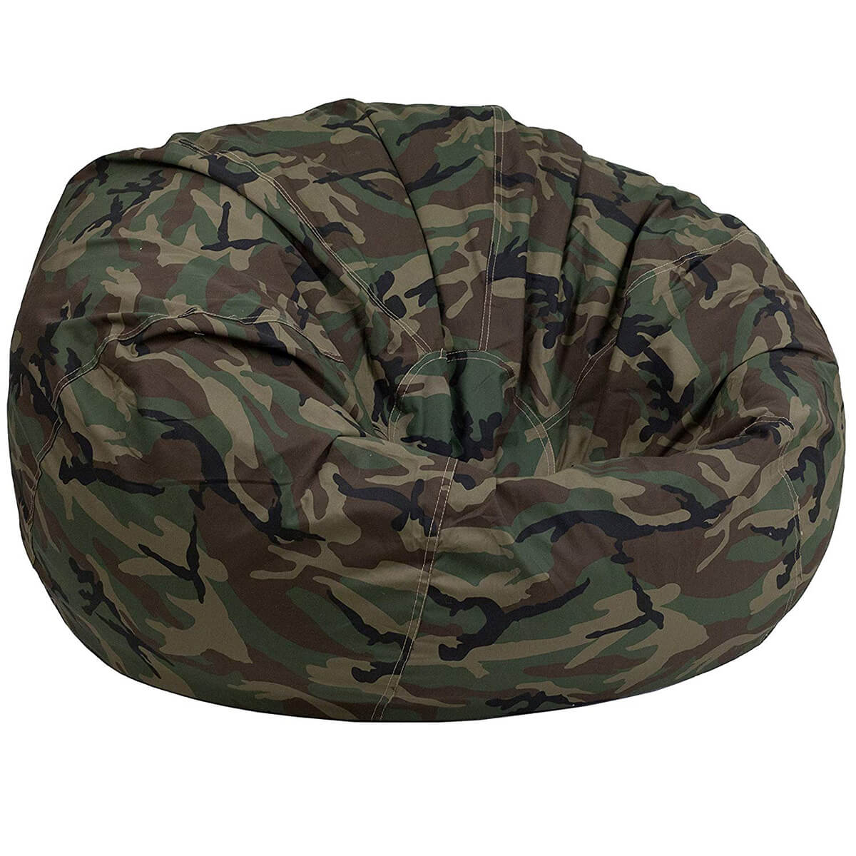 Flash Furniture Camouflage Oversized Bean Bag Chair for Kids