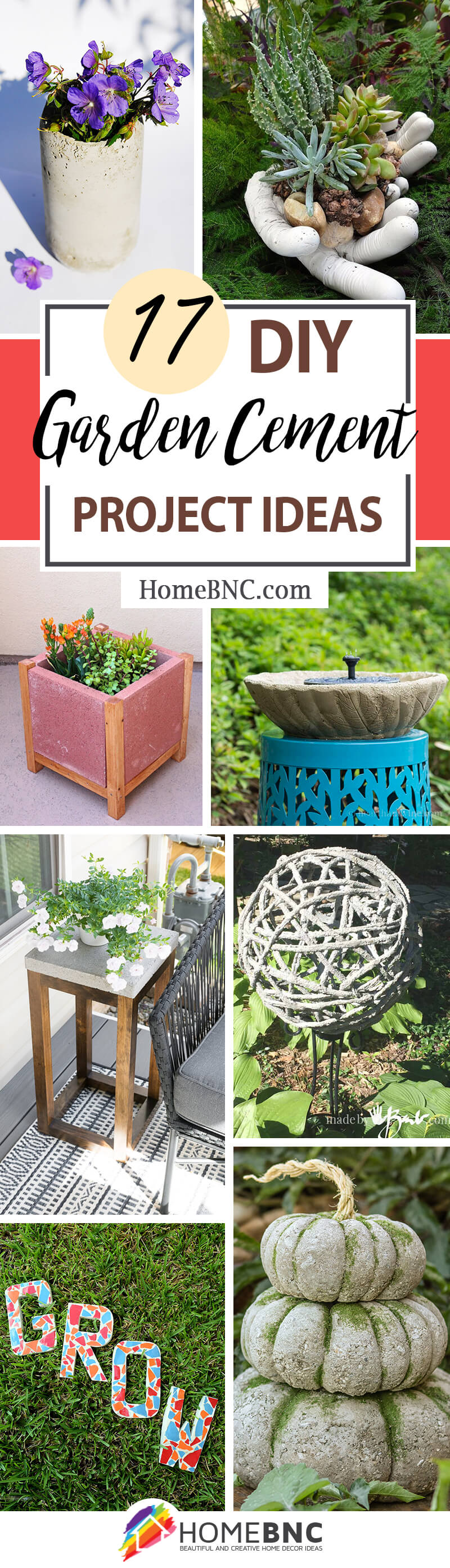 11 Easy DIY Garden Cement Project Ideas on a Budget for 11