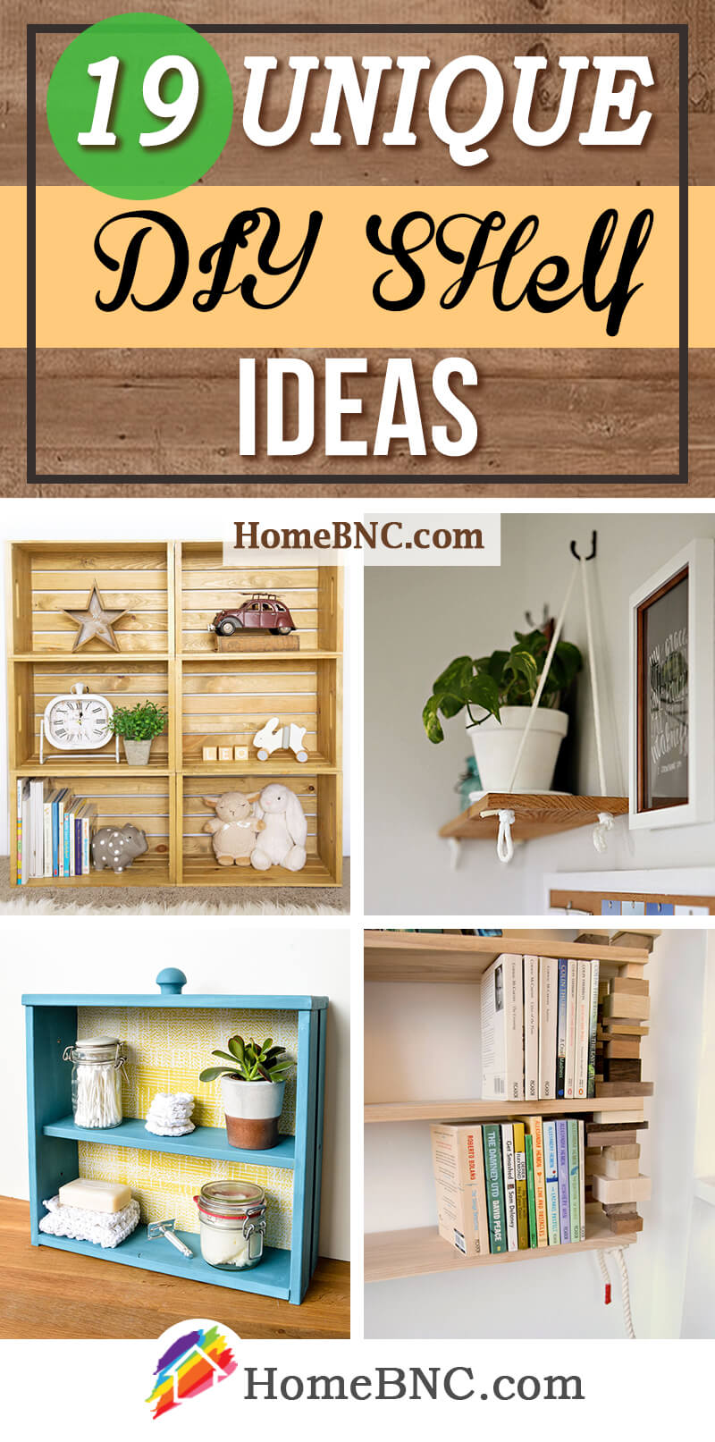 Unique DIY Shelf Ideas