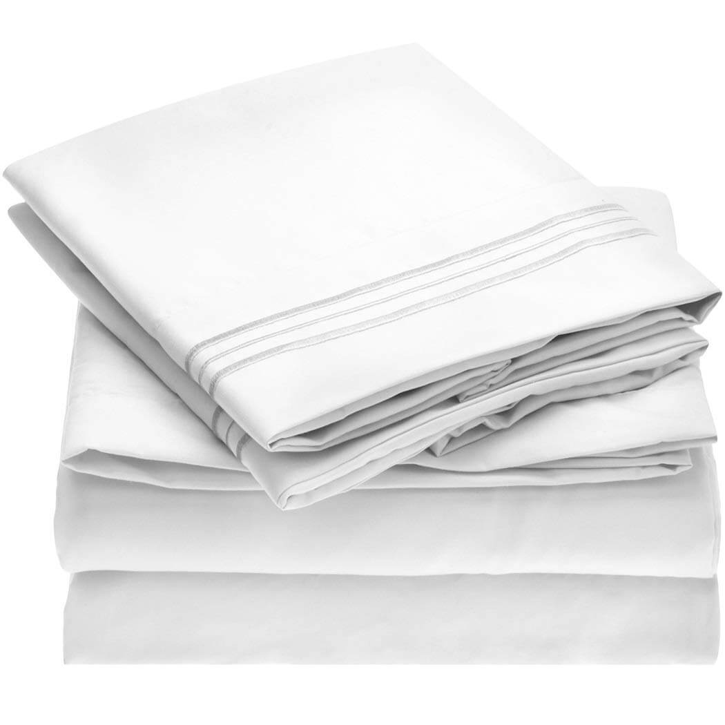 Mellanni Brushed Microfiber Bed Sheet Set