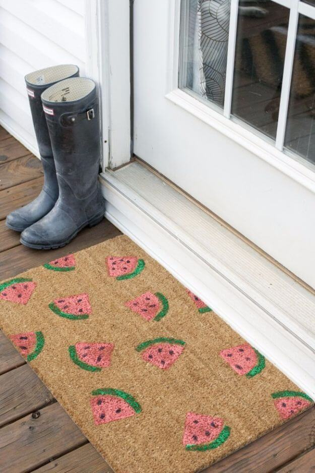 Sweet and Simple Watermelon Welcome Mat