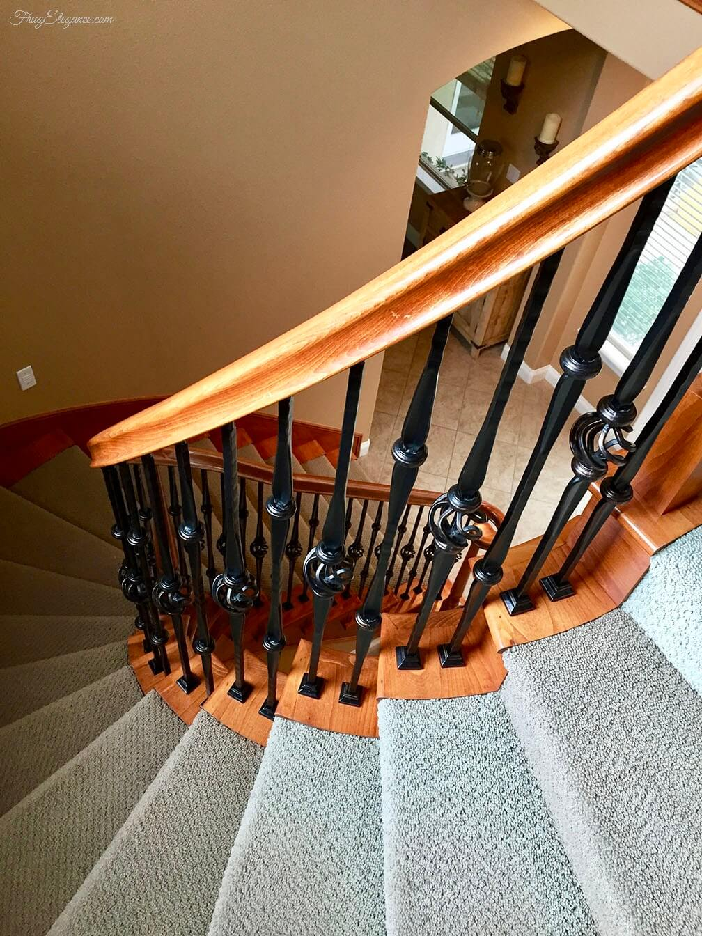 Do It Yourself Complete Stairwell Makeover