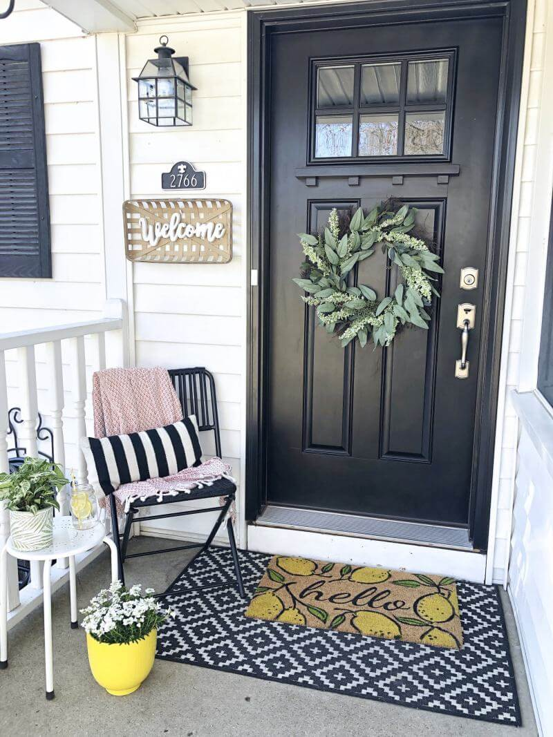 Lemon Yellow Summer Welcome Mat