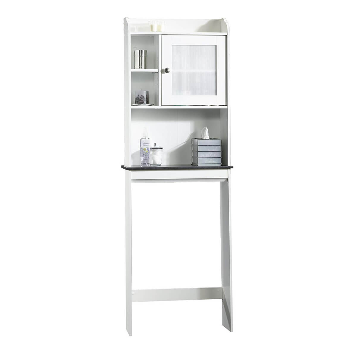 White Space Saving Bathroom Cabinet