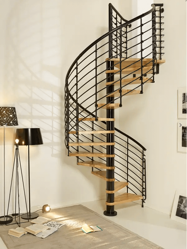 A Stylish, Industrial Floating Stairwell