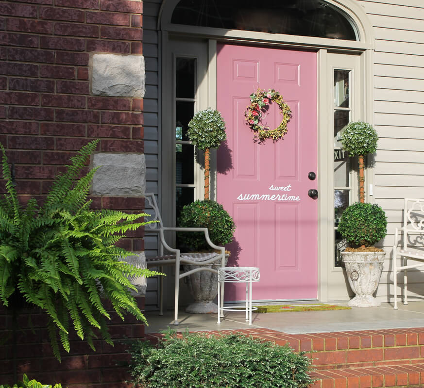 Sweet Summertime Pink Door with Quip