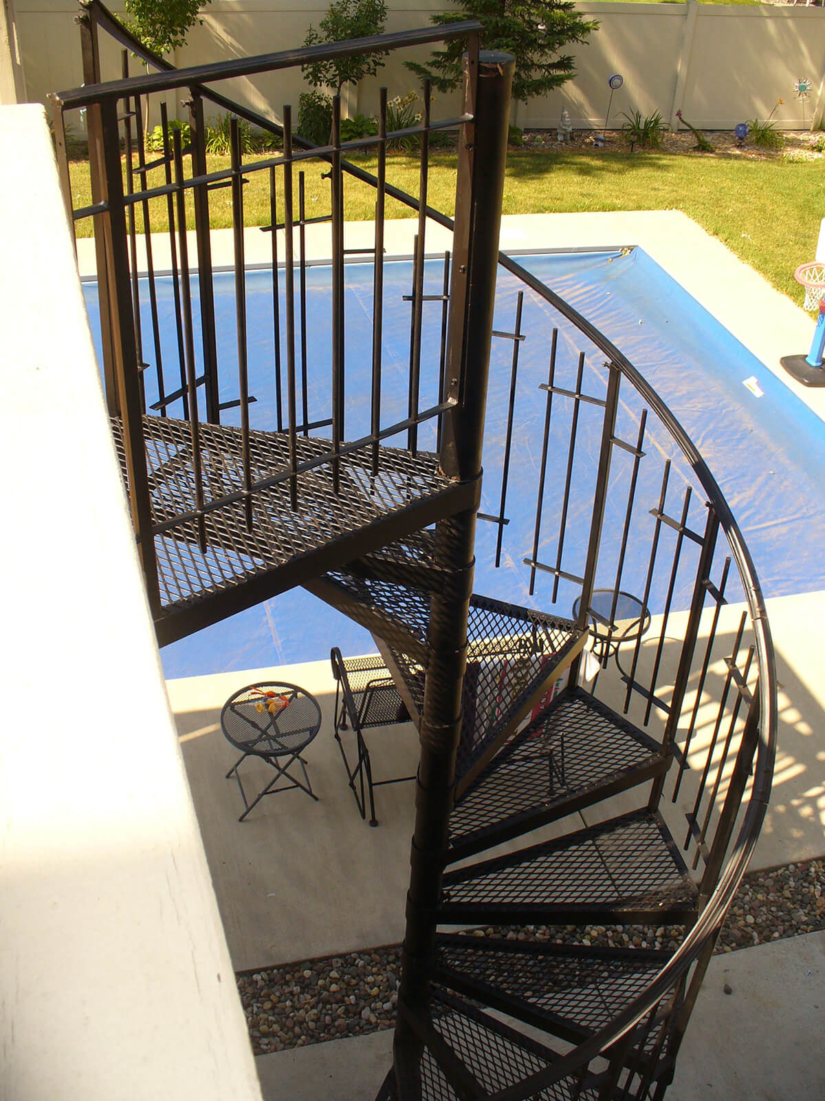 Outdoor Spiral Staircase Painted Black