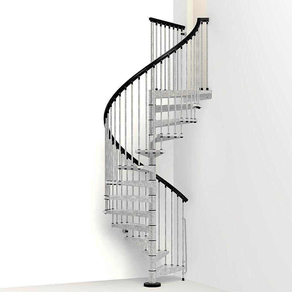 Galvanized Steel Outdoor Spiral Stair Kit