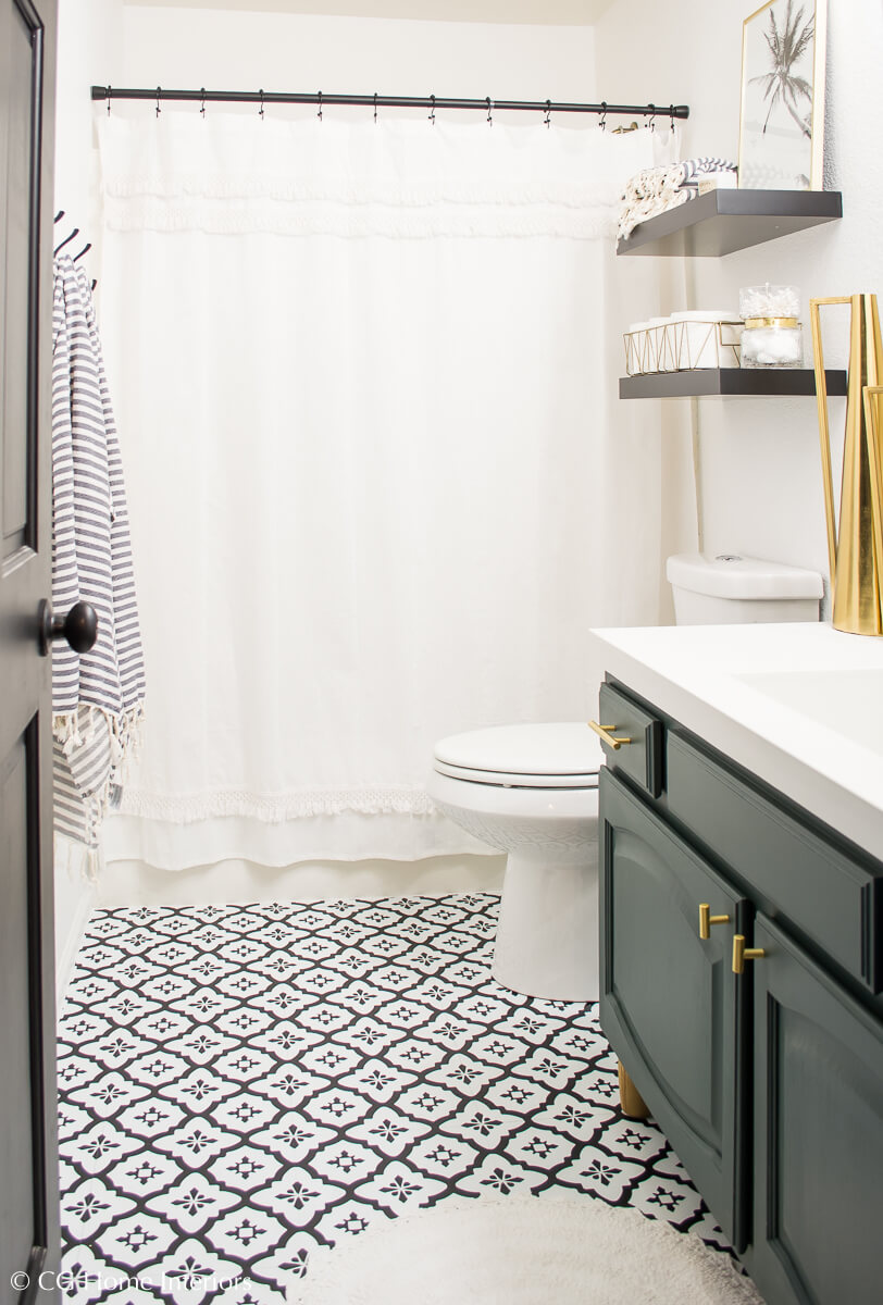 Peel and Stick Vinyl Flooring for Bathroom Remodel