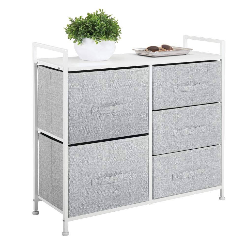 Contemporary Steel Dresser Storage Tower