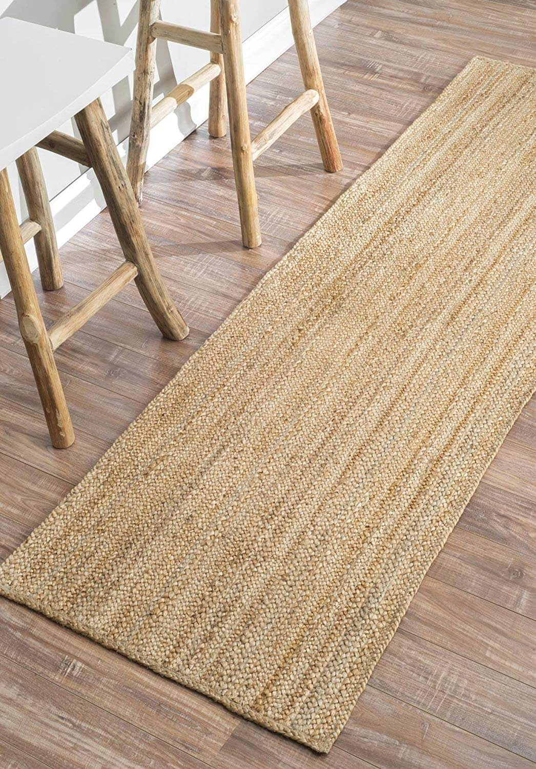 Thick Handwoven Wicker Runner Rug