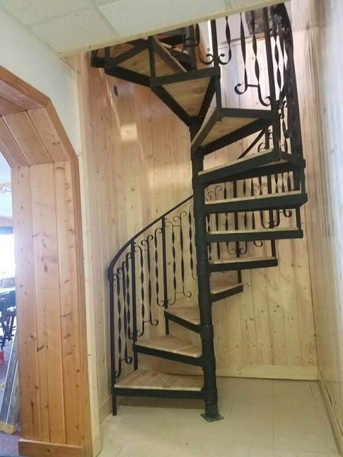 A Beautiful Antique Spiral Cedar Staircase