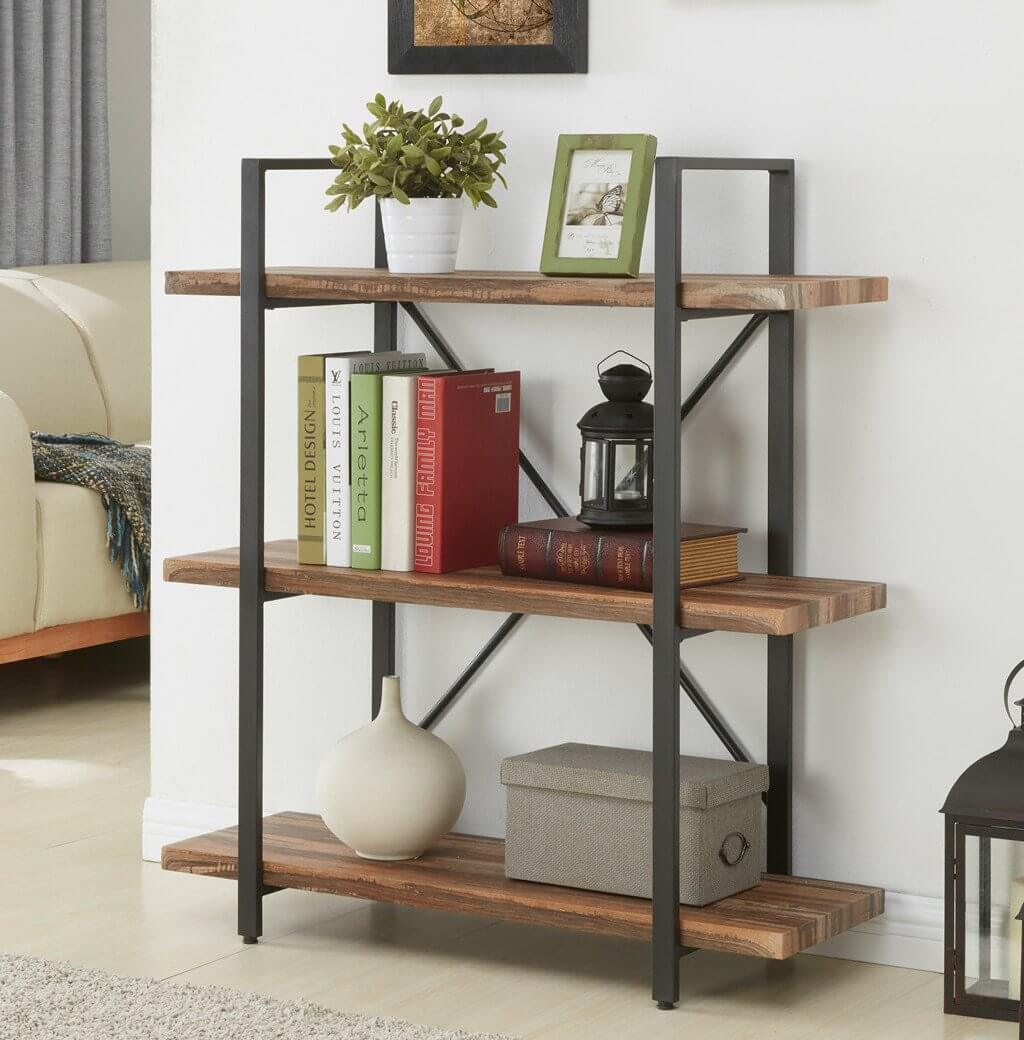 Unique 3-Tier Industrial Bookshelves