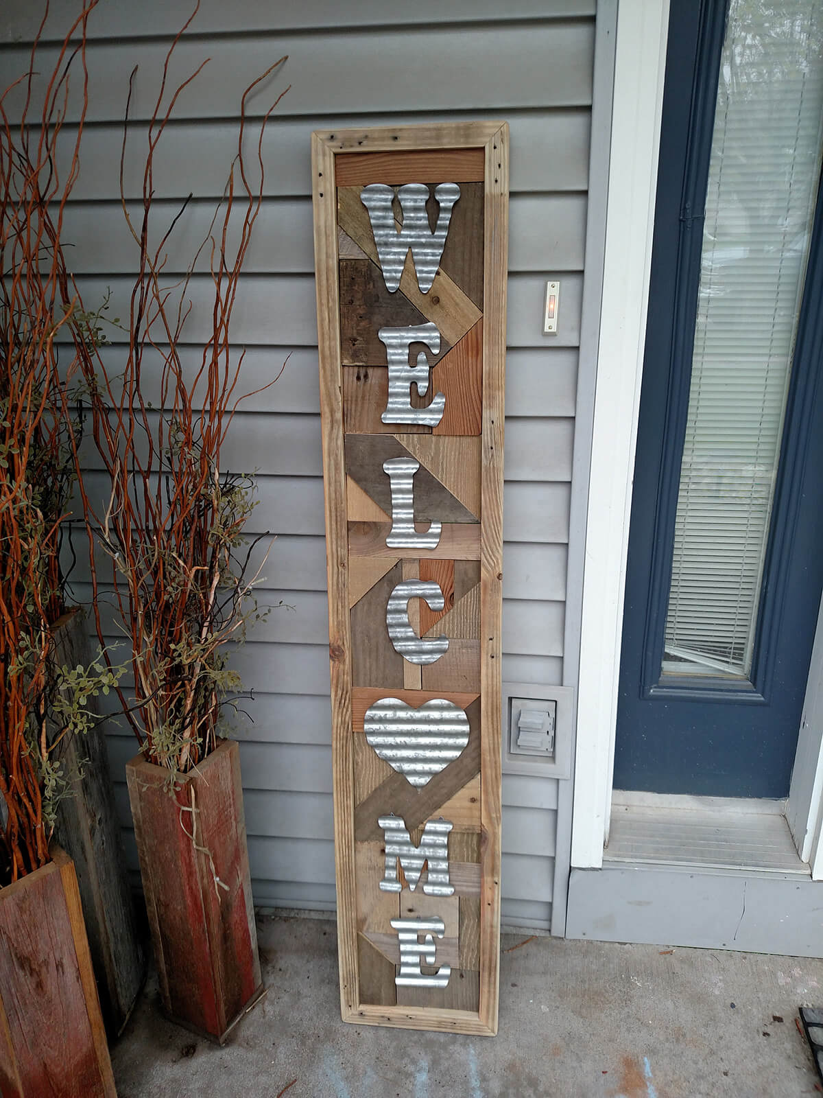 Reclaimed Wood Washboard veranda Sign