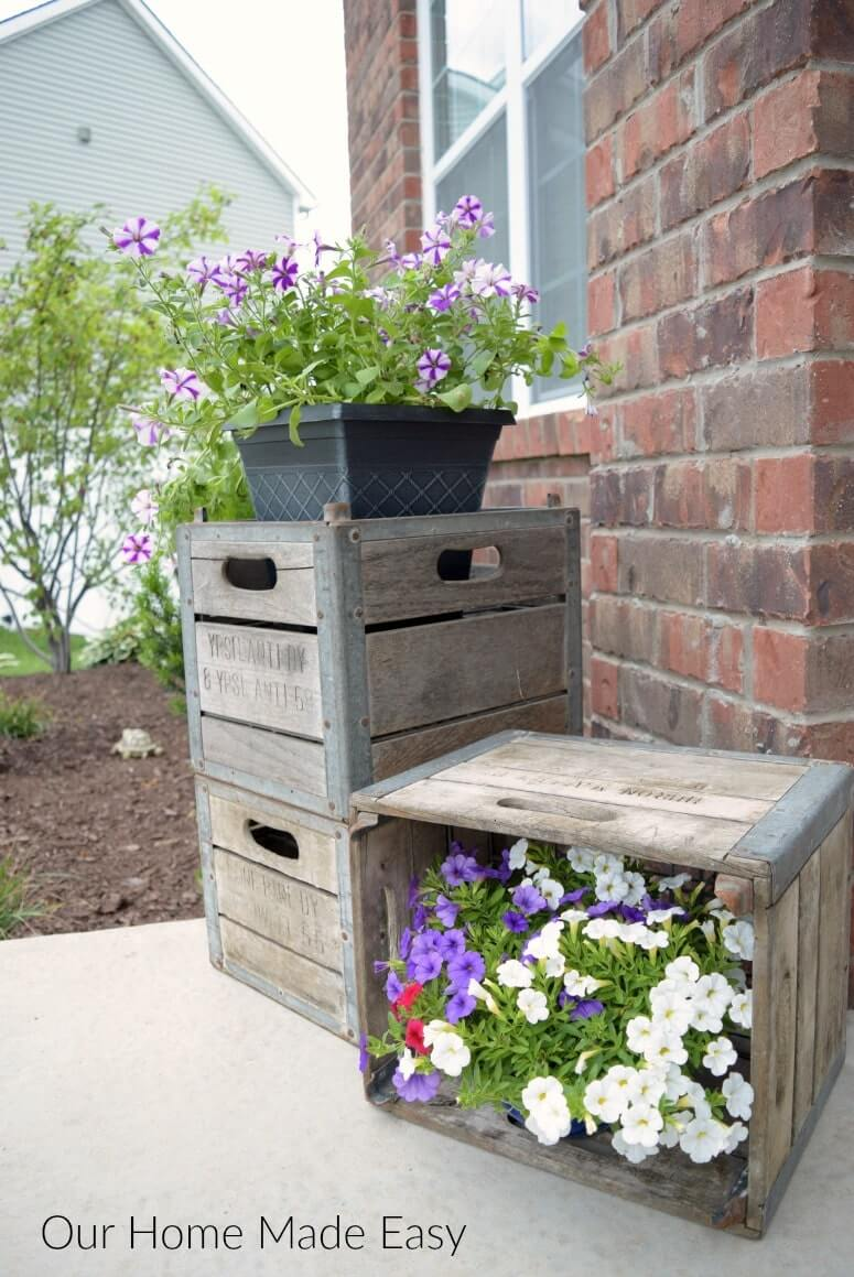 Cute Cubby Crate Porchside Shelves