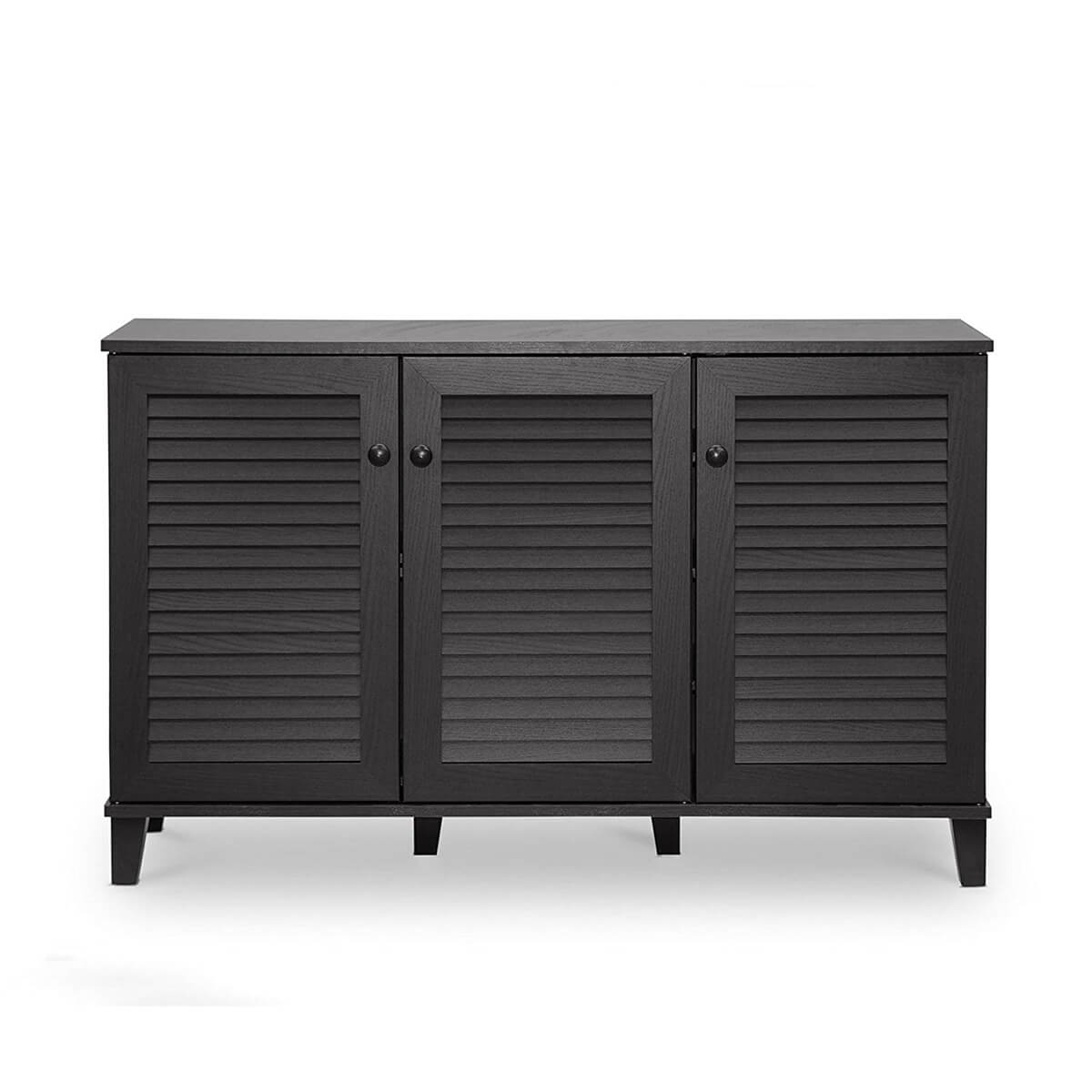 Small Espresso Black Storage Cabinet