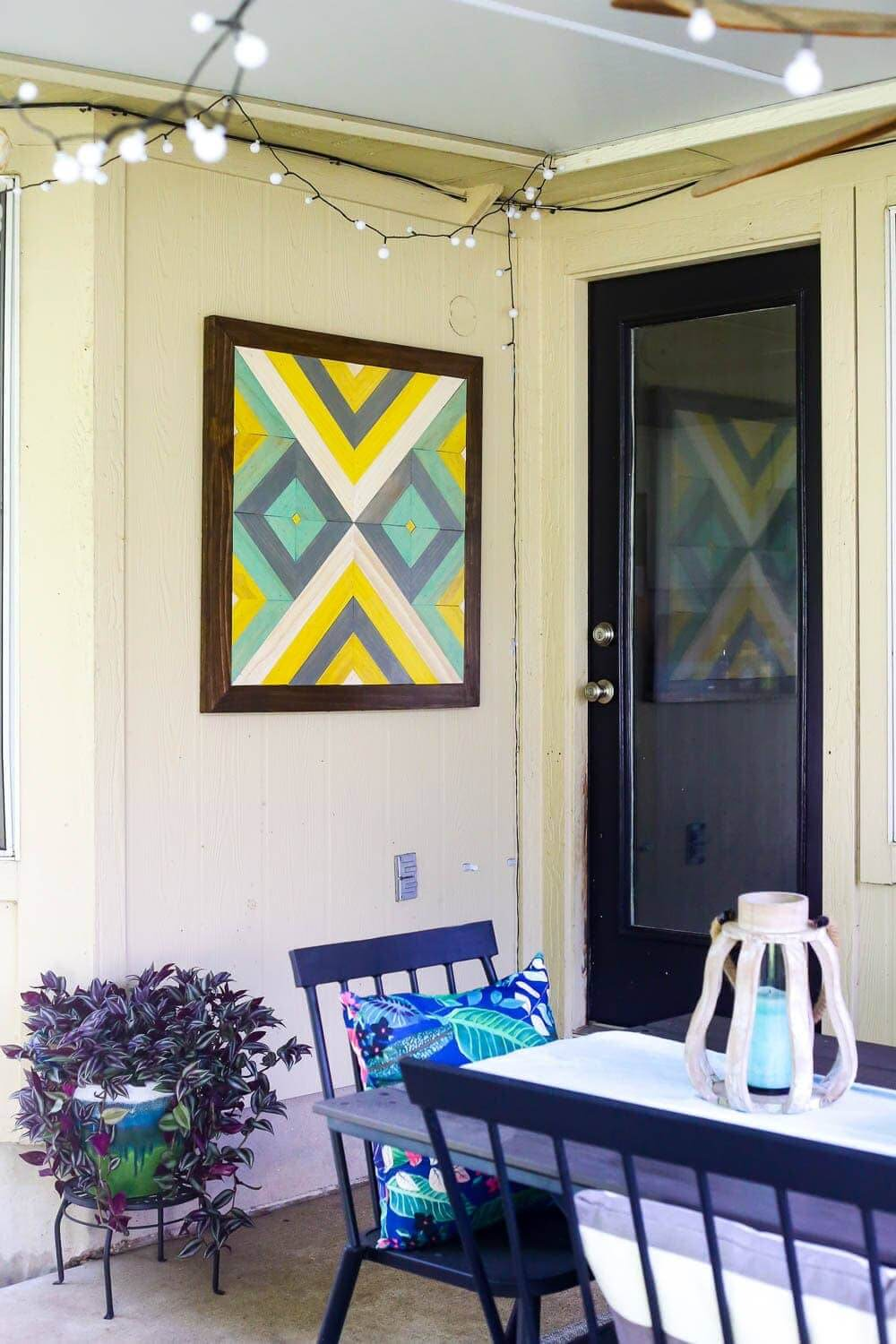 Bright and Abstract Outdoor Hanging Wall Art<