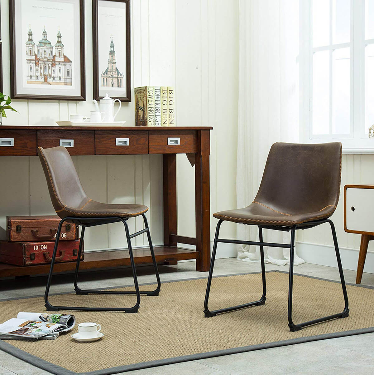 Lotusville Vintage Dining Chairs Add Intimacy