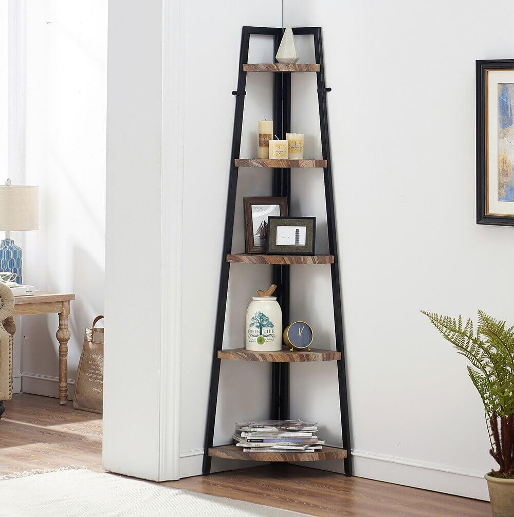 Innovative Corner Bookcase and Shelf