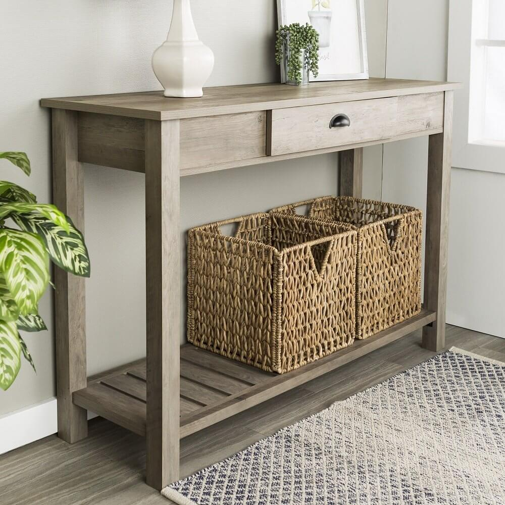 Country Style Sofa Table Sets the Mood