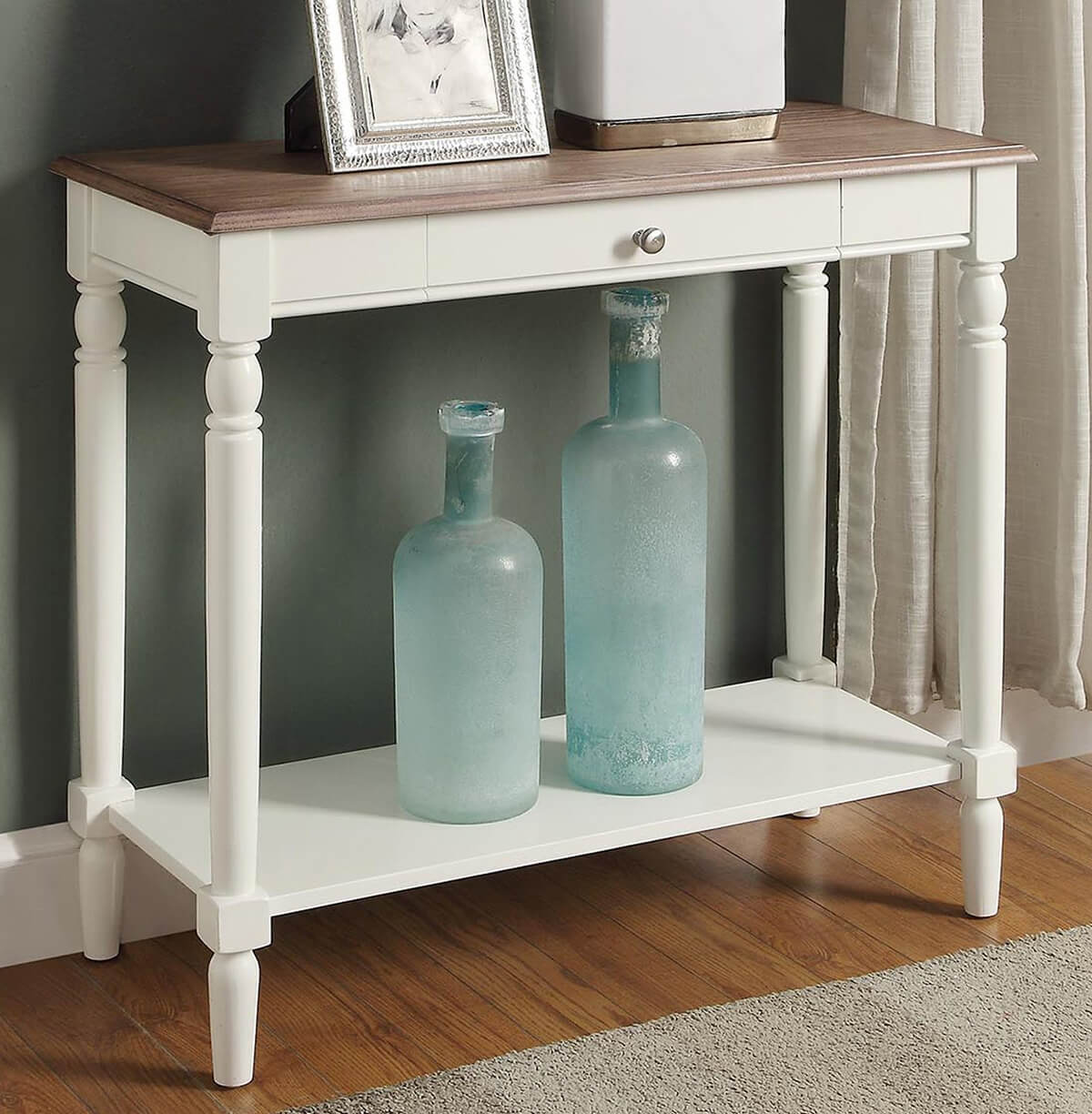 Beautiful and French-Inspired Country Hallway Table