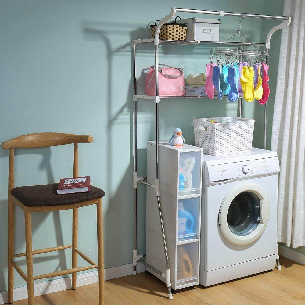 Washing Machine Metal Storage Rack
