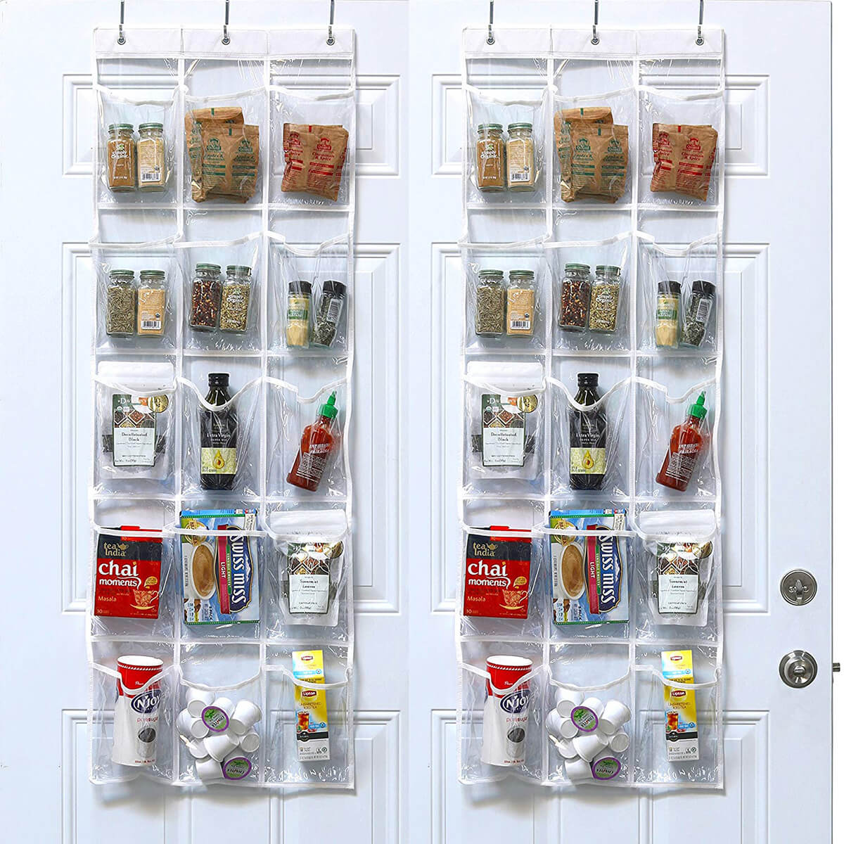 Hanging Pantry Organizer with Clear Pockets