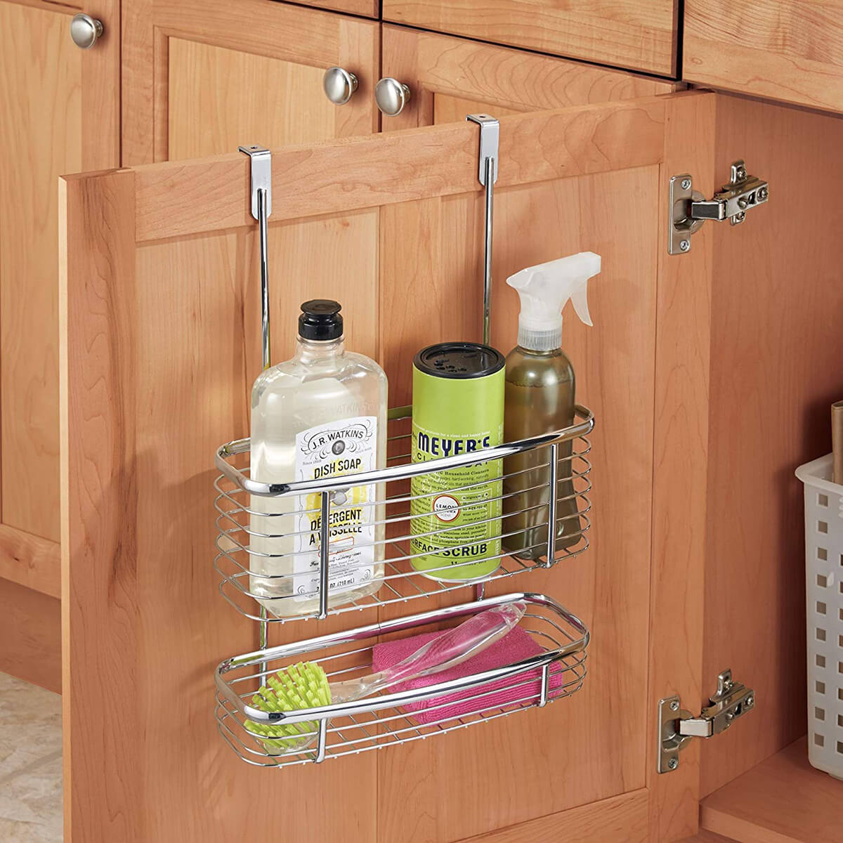 Hanging Cabinet Storage Basket Organizer Product for Kitchen