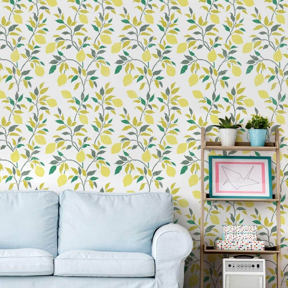 Bright and Playful Lemon Tree Stencil