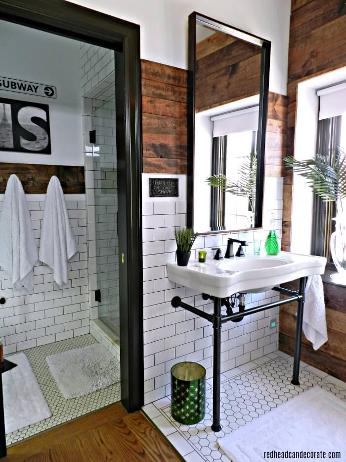 A Rustic Industrial Modern Bathroom Design